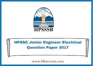 HPSSC Junior Engineer Electrical Question Paper 2017