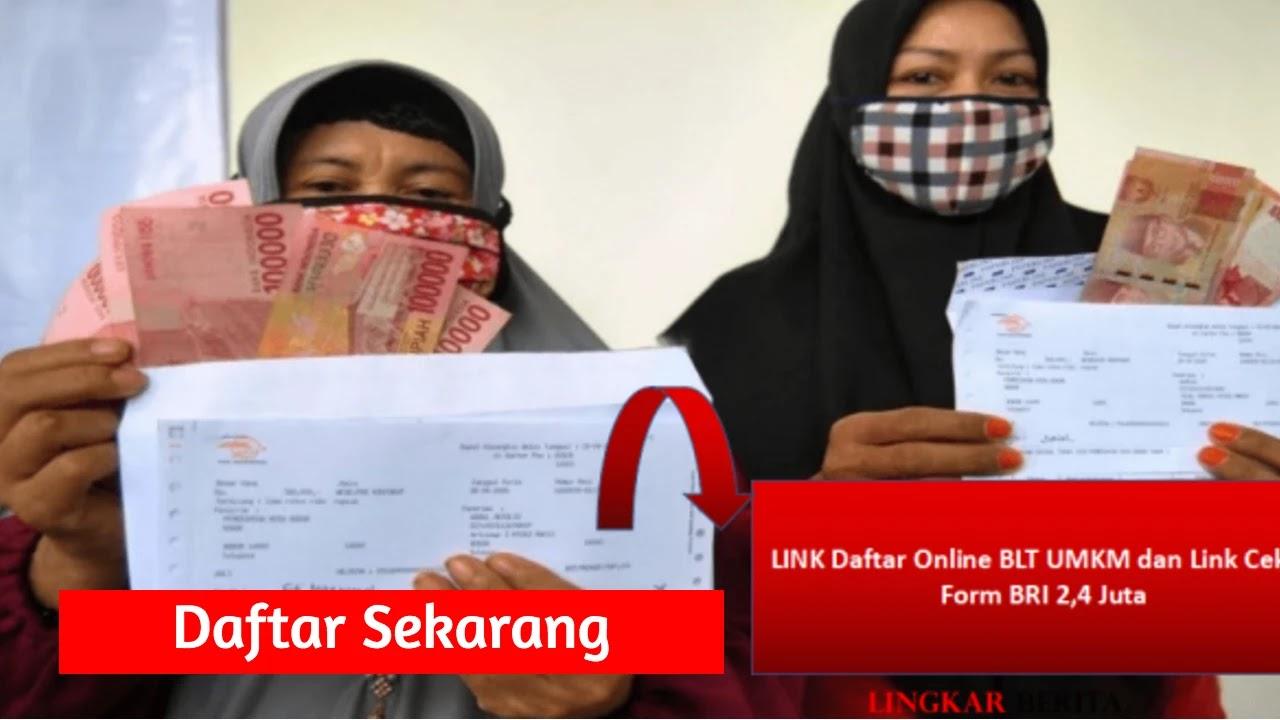 LINK Daftar Online BLT UMKM dan Link Cek E-Form BRI 2,4 Juta