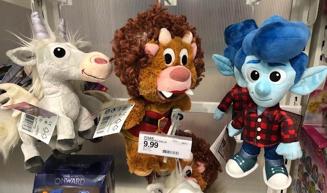 Pixar Onward Plush Toys with Ian, The Manticore and Unicorn