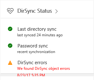 Notes from the field: O365 IDM Bug: DirSync Errors but No