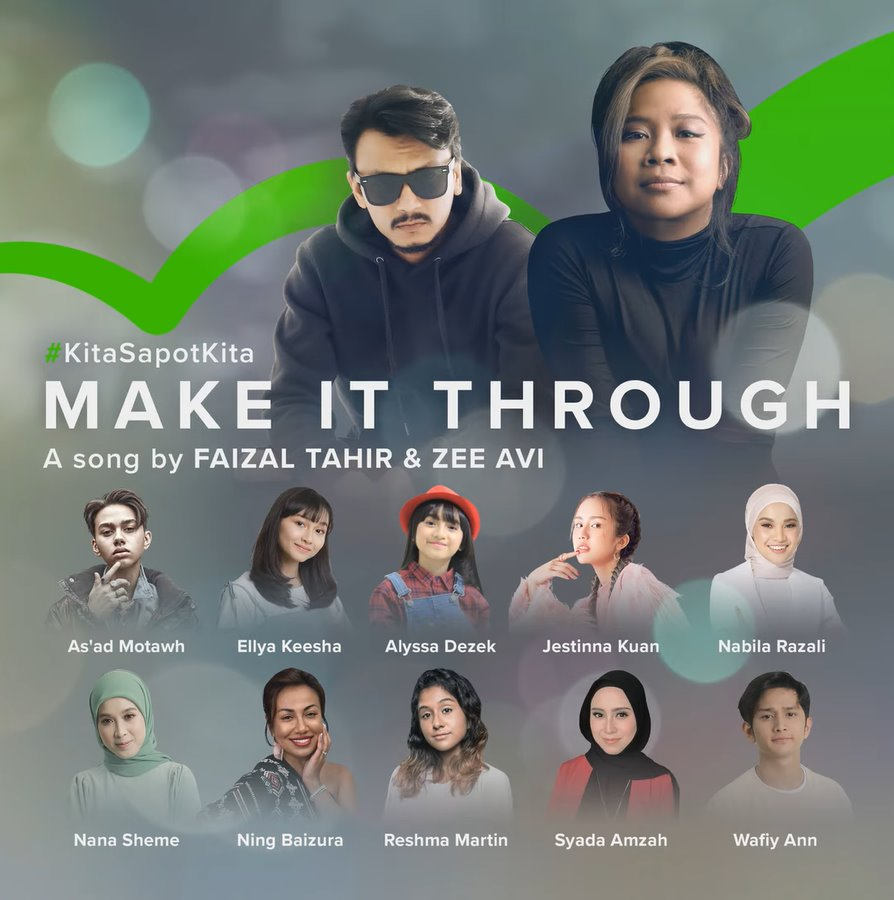 Lirik Lagu Faizal Tahir & Zee Avi - Make It Through