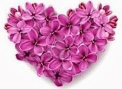 heart made of flower emoticons for facebook chat