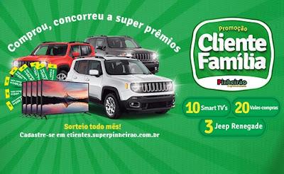 Cadastrar Aniversário Pinheirão Supermercados 2020/2021 - Tvs, Vales-Compras e Jeep Renegade