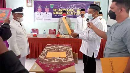 pelantikan Pj Wali Nagari Malai V Suku