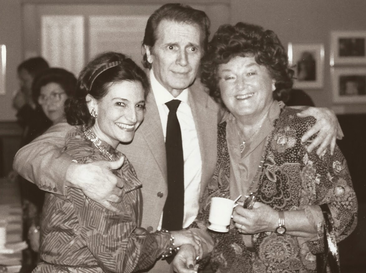 Karen with tenor FRANCO CORELLI and soprano BIRGIT NILSSON