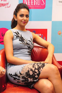Rakul Preet Singh Pictures in Short Dress at The Label Bazar Exquisite Designer Exhibition ~ Celebs Next