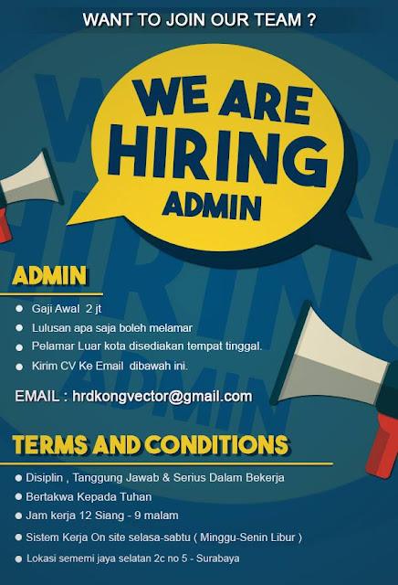 Lowongan Kerja Admin di Surabaya
