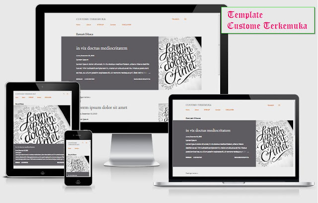 Responsive Template Custome terkemuka
