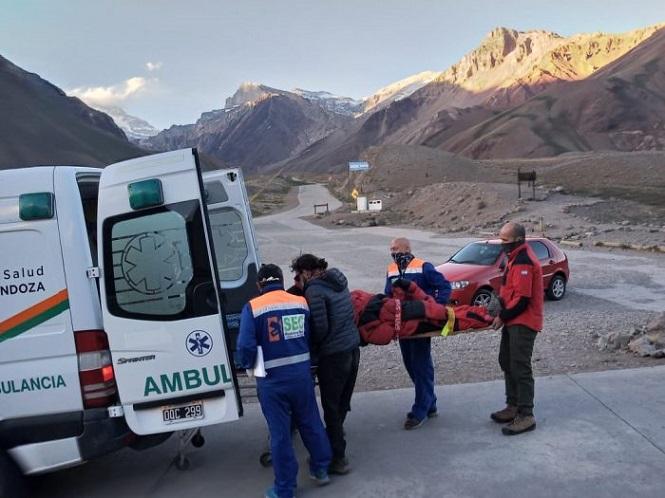 Se realizó el primer rescate de la temporada en el Parque Provincial Aconcagua
