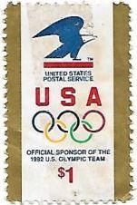 Selo USPS Patrocinador Olímpico