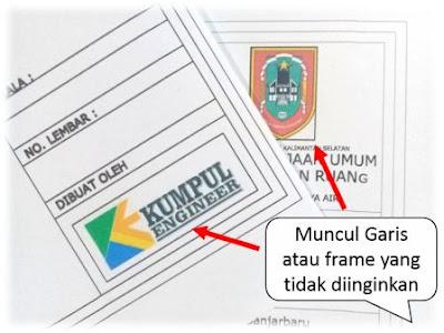 Cara menghilangkan garis frame gambar atau logo yang muncul saat diprint dari Autocad