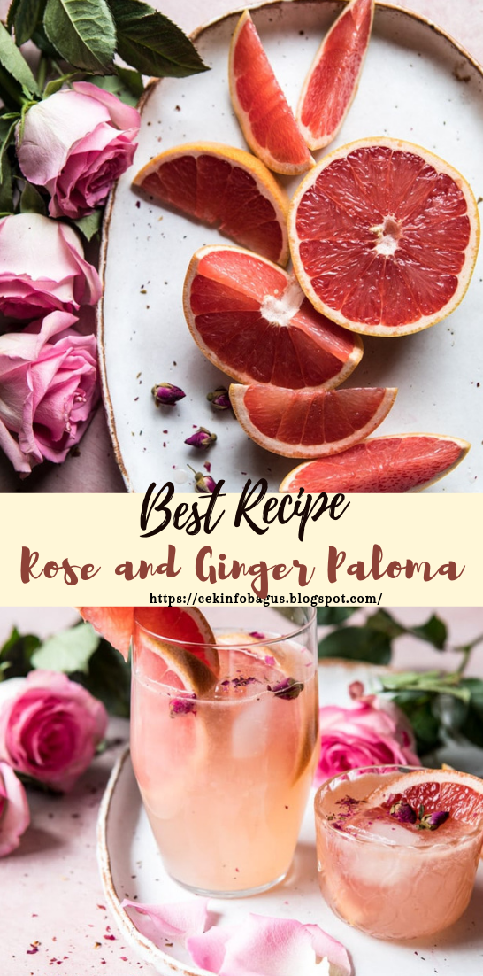 Rose and Ginger Paloma #healthydrink #easyrecipe #cocktail #smoothie