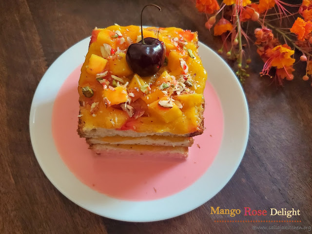 images of Mango Rose Delight / Easy Mango Delight / Mango Delight - A Quick Mango Dessert