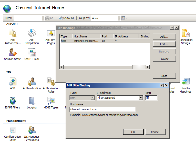 change web application port in sharepoint 2010