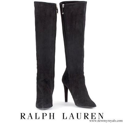 Kate Middleton wore Ralph Lauren Black Suede High Heel Boots