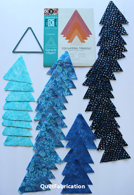 lots of fabric triangles