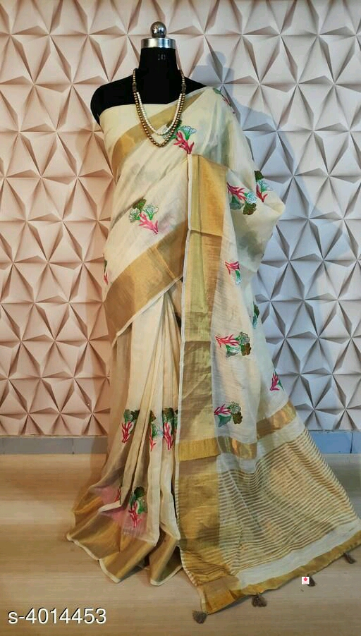 Linen saree   *Adrika Superior Sarees*  Rs:1449/-