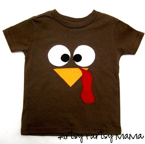 d96dbc56d DIY Turkey Shirt at artsyfartsymama.com #turkey #Thanksgiving #kids