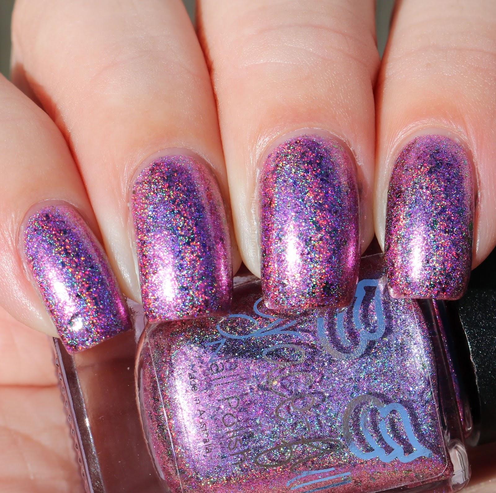 Olivia Jade Nails: Grace-full Nail Polish Pink Lux & Lilac Light ...