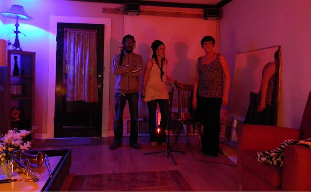 Damani Butler, Maude Caillat, Billie Davies at Dangerous Art Studios
