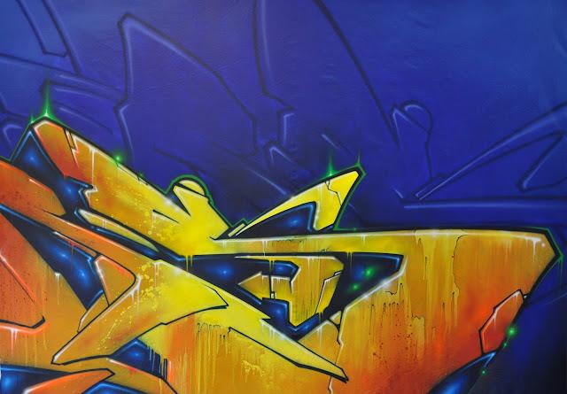 """SHADOW"" acrylic painting 140 X 200 cm"