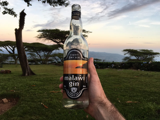 Trying my first Malawi Gin & Tonic (MGT) at Satemwa Tea Estate