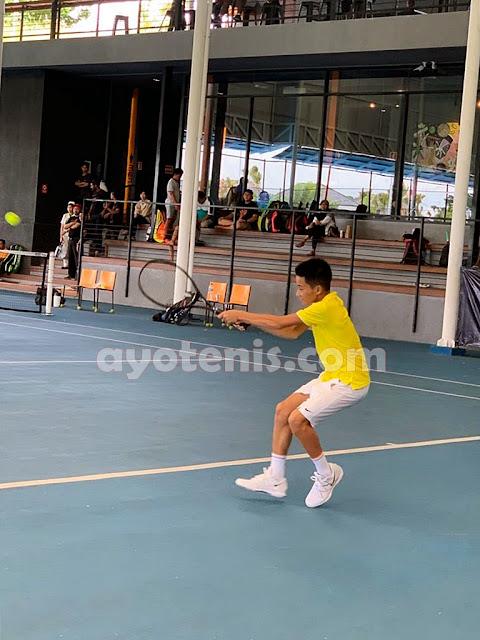 Ingvar Terhenti di Perempatfinal Liga.Tennis National Junior Championship