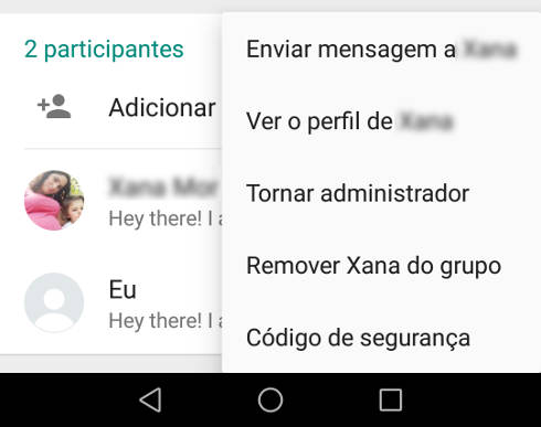 Adicionar administrador no grupo do WhatsApp