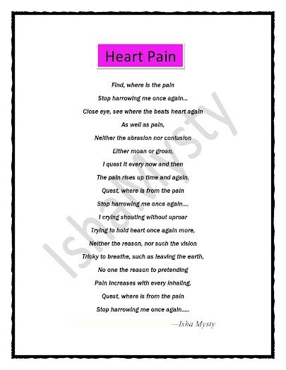 Heart pain a heart touching poem Isha Mysty
