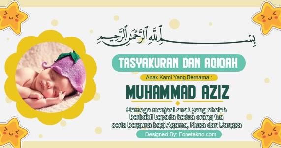 Download Kartu Ucapan Aqiqah Bayi - kartu ucapan terbaik