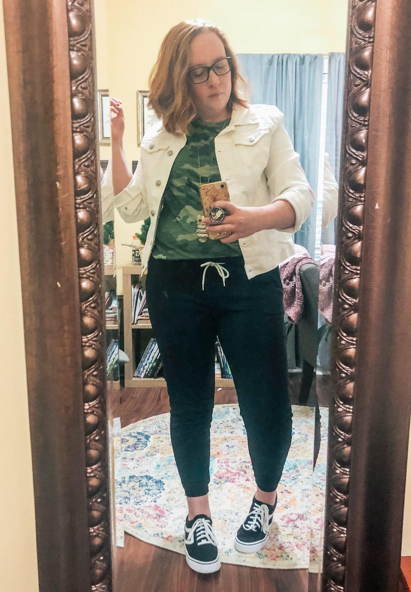 joggers-white-jean-jacket