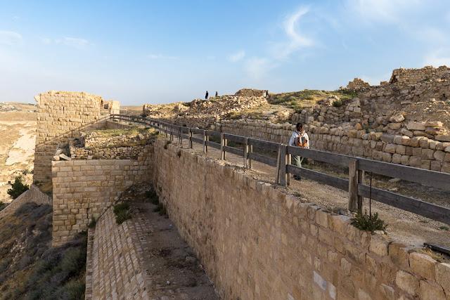 Muralla del Castillo de Shobak, Jordania