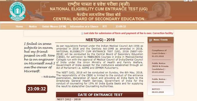 NEET 2018 Exam Syllabus, Pattern, Admit Card Download