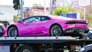 Blac Chyna Pink Car 2016 Huracan Lamborghini
