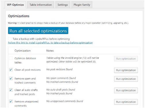 Cara Settings Plugins WP-Optimize Terbaru