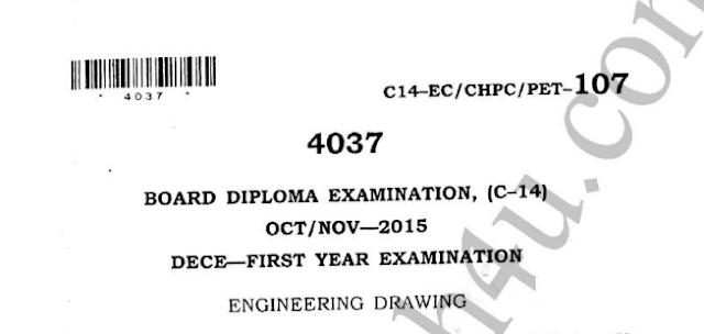 Engineering Drawing model question papers c14 ece oct nov 2015 sbtet