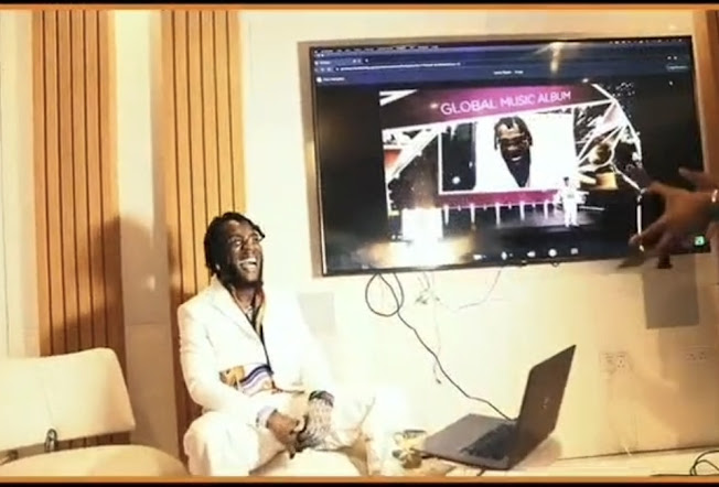 Watch the beautiful moment as Burnaboy wins the Grammys award (Video)