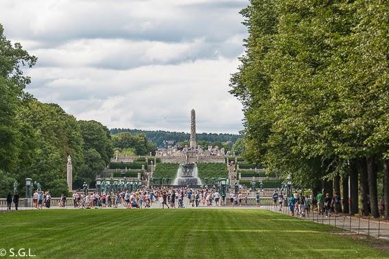 El parque Vigelan en Oslo