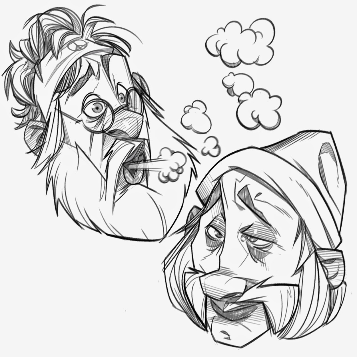 P.Cohen Sketch Blog: Cheech and Chong for Sketch Dailies