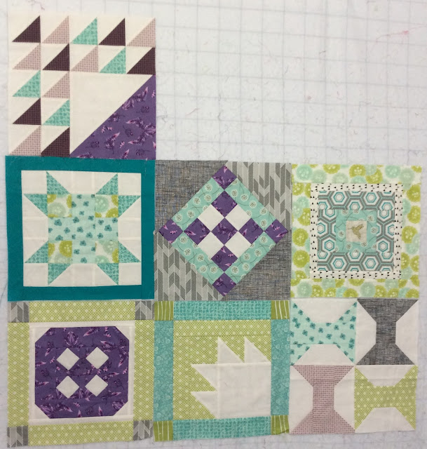 Aurifil Designer of the Month 2014 blocks