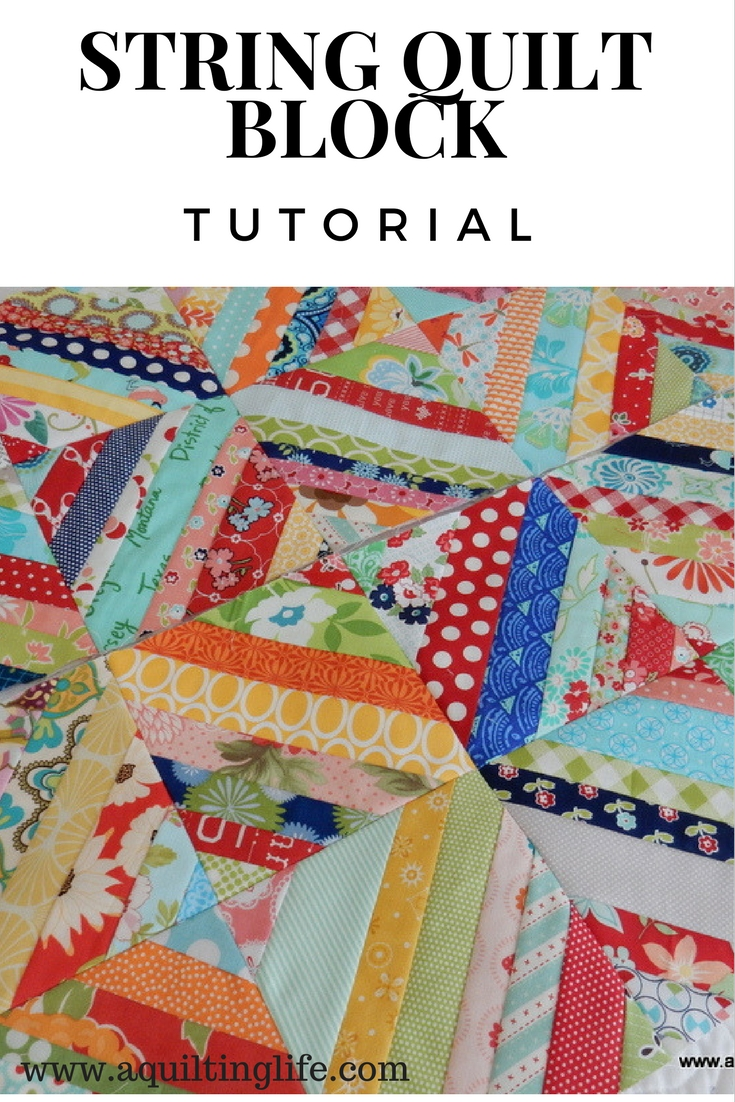 http://www.aquiltinglife.com/2013/10/string-quilt-blocks-tutorial.html