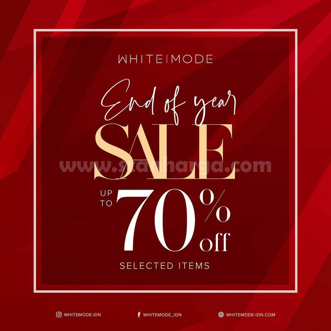 White Mode Promo Year End Sale up to 70% Off*