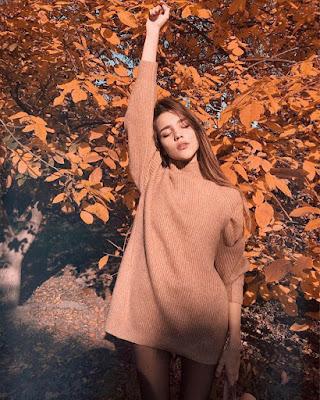 foto tumblr de otoño con outfit casual