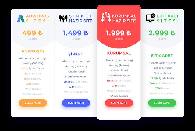 özel web tasarım fiyatları