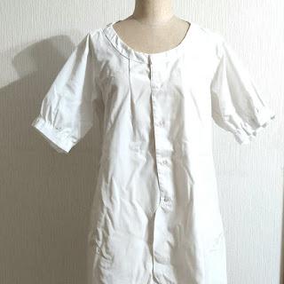 お父さんのYシャツからシュワッチ!自分のブライスへ変身w,リメイクブラウス,remake a  blouse from dady's Shirt, 爸爸的白衬衫改成了我的短袖衬衫