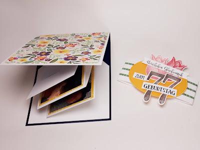 Pop Up Panel Karte mit Fotos zum Geburtstag Stampin' Up! www.eris-kreativwerkstatt.blogspot.de