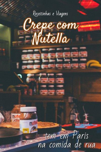 Sobremesas com Nutella: crepe com Nutella