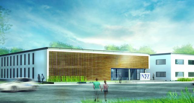 Wizualizacja nowej siedziby kujawsko-pomorskiego oddziału Narodowego Funduszu Zdrowia w Bydgoszczy