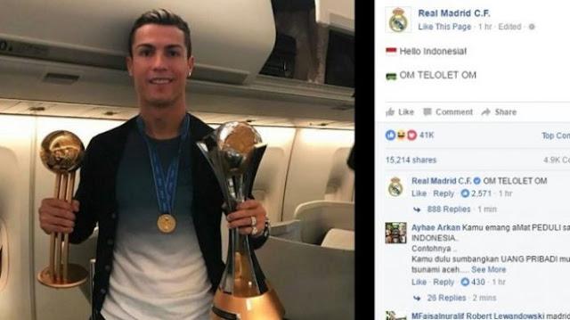 Real Madrid dan Ronaldo Ikut-Ikutan 'Om Tolelot Om'