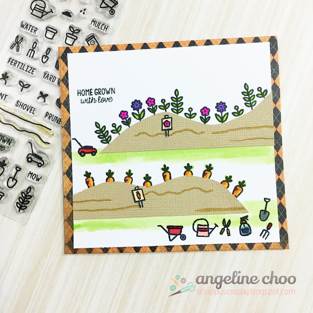 ScrappyScrappy: August NEW Release with Sweet Stamp Shop - Garden Plans #scrappyscrappy #sweetstampshop #card #cardmaking #stamp #stamping #coloring #gardenplans #copic #gardening #papercraft